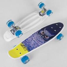 Скейт Пенни Борд с принтом, PU светящиеся колеса (Best Board S29855)