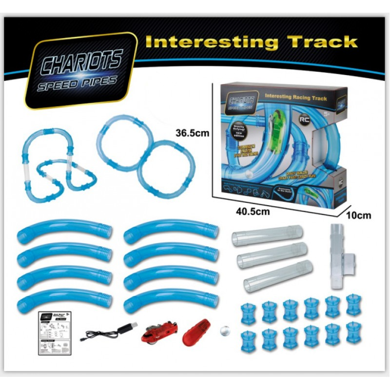 Трубопроводный автотрек - Chariots Speed Pipes (Набор 28 деталей, арт 022-2)