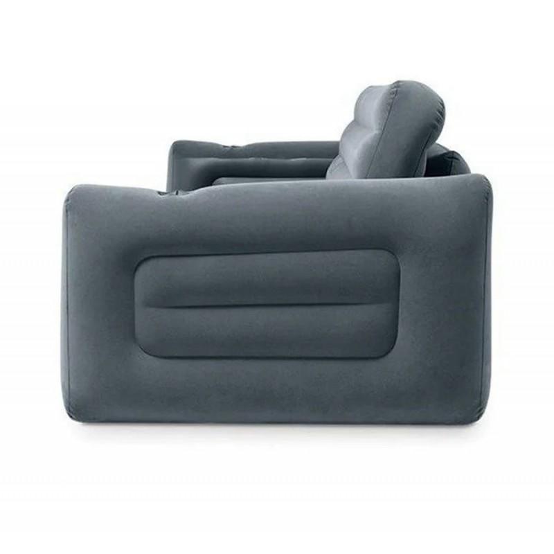 Надувной диван-трансформер, серый (Intex 66552)
