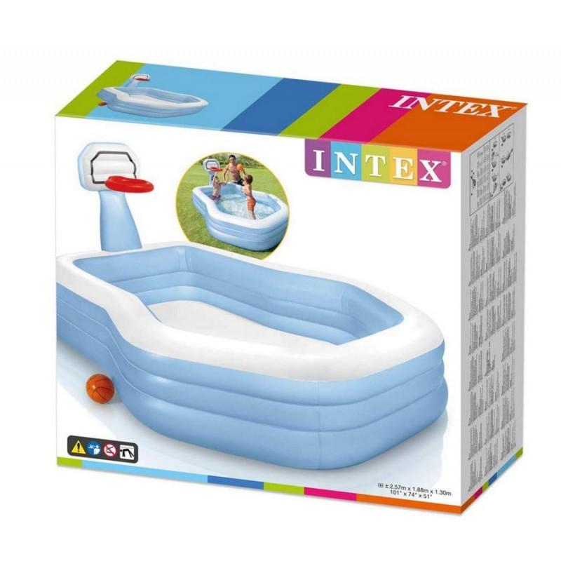 Детский надувной бассейн с кольцом (Intex 57183)