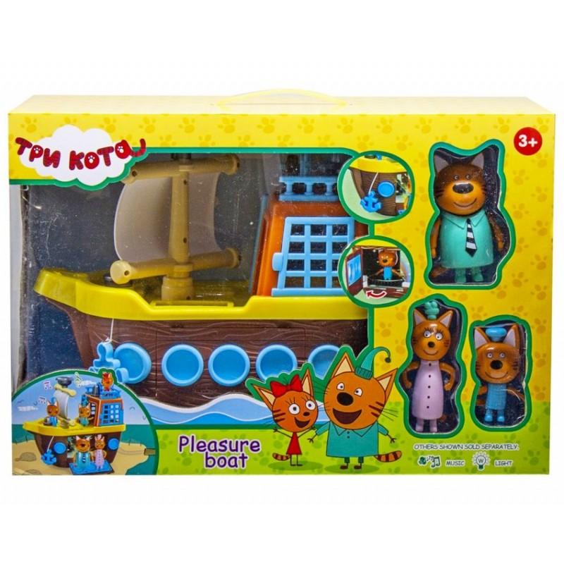 Игровой набор с фигурками - Три кота и Корабль (арт. M-8810)