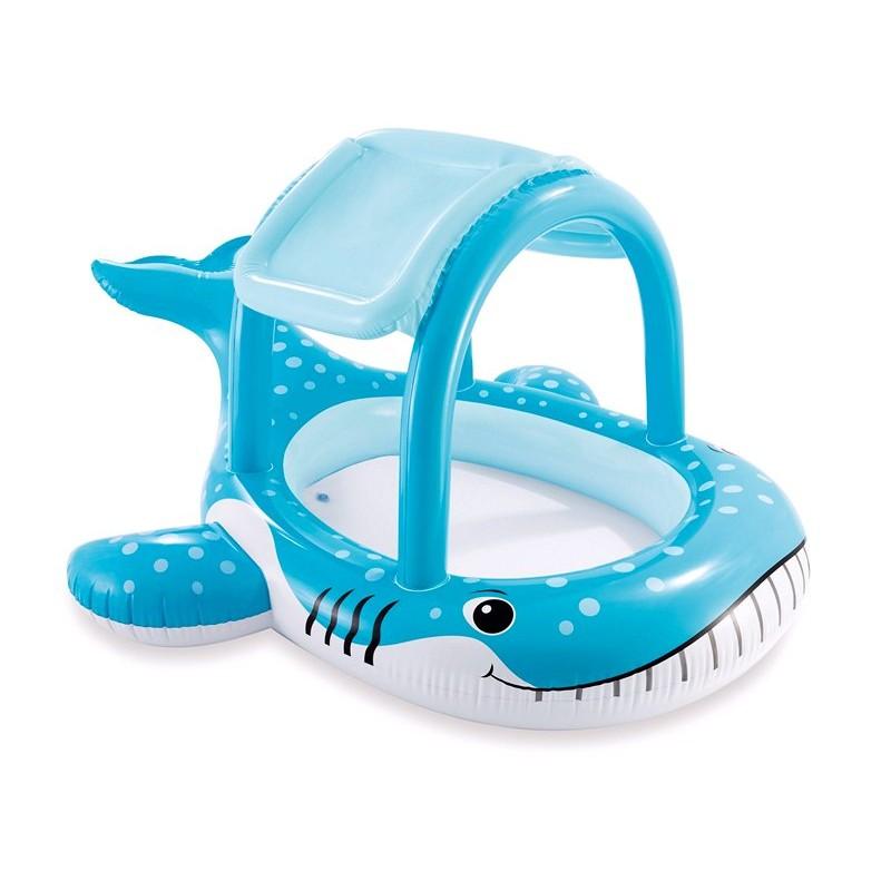Детский надувной бассейн с навесом - Большой кит (Intex 57125)