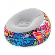 Надувное велюровое кресло (Bestway 75075)
