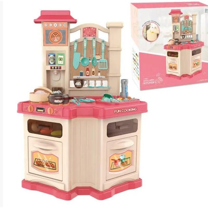 Кухня детская с водой, паром, светом и звуком, Pink (арт. 848B)