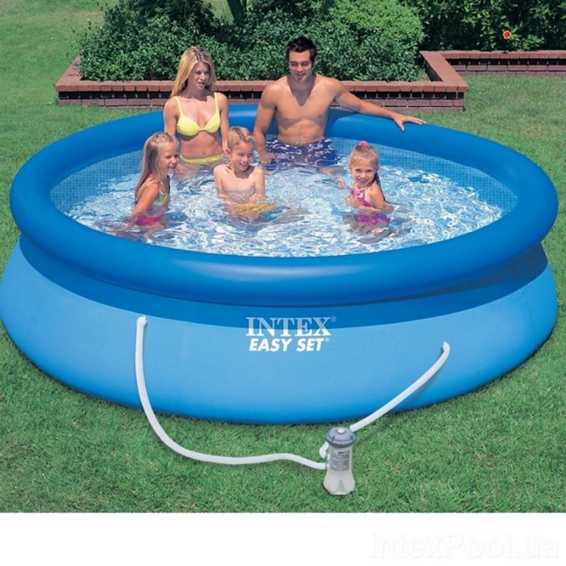Надувной бассейн 224 см, с фильтр-насосом (Intex 28108)