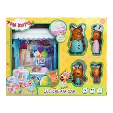 Игровой набор с фигурками - Три кота - Фургончик с мороженым (арт. M-8808)