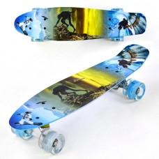 Скейт Пенни Борд, PU светящиеся колеса (Best Board F3270)