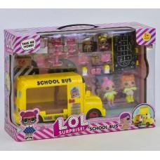 """Игровой набор LOL """"Школьный автобус"""", 4 куклы (арт. K5624)"""