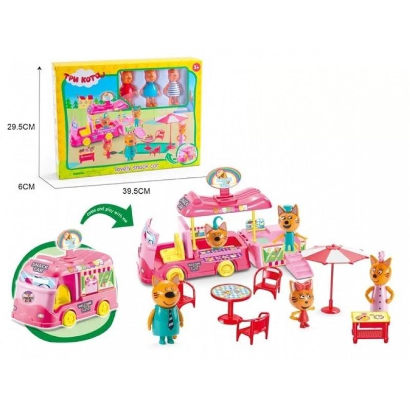 Игровой набор с фигурками - Три кота - Фургончик для пикника (арт. M-8804)