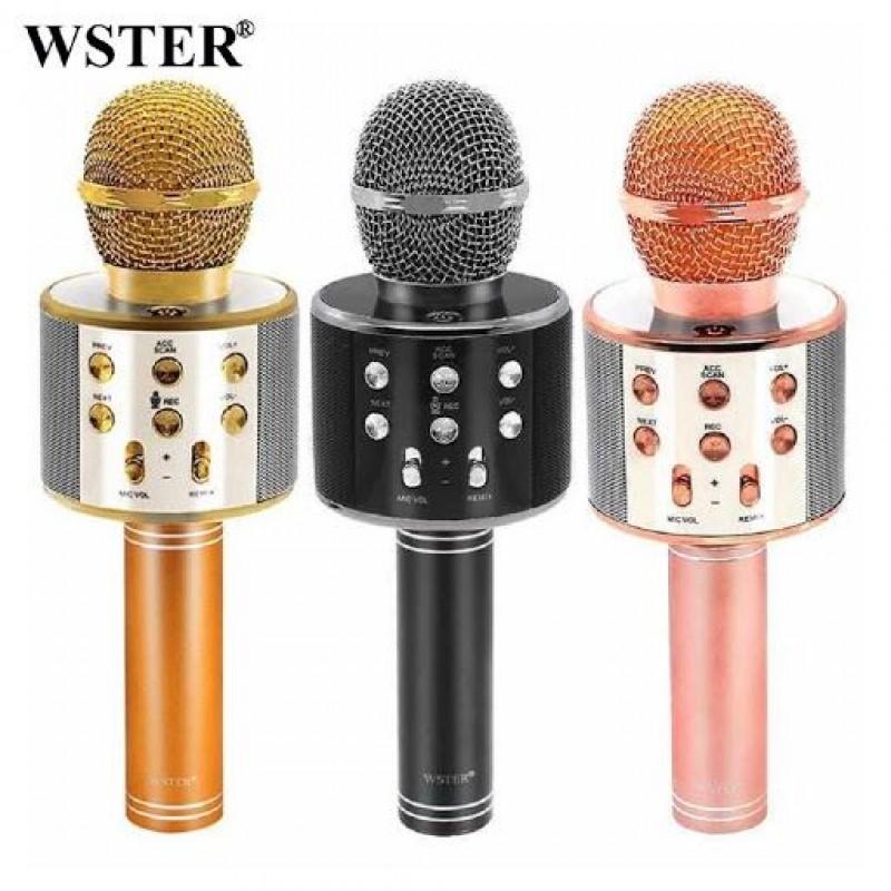 Беспроводной Bluetooth караоке-микрофон (Wster WS858)