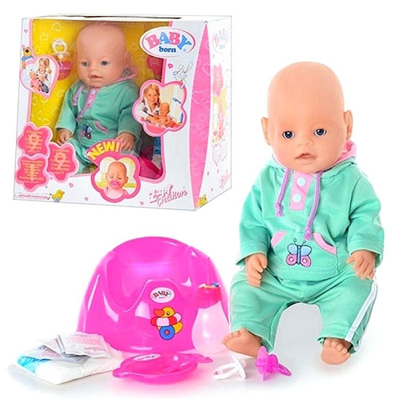 Пупс Baby Born, 9 функций, аналог (арт. BB8001A)