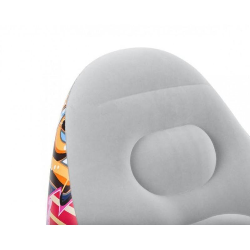 Надувное велюровое кресло с пуфиком (Bestway 75076)