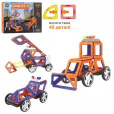Конструктор магнитный - Стройтехника, 42 детали (LImo Toy LT6004)