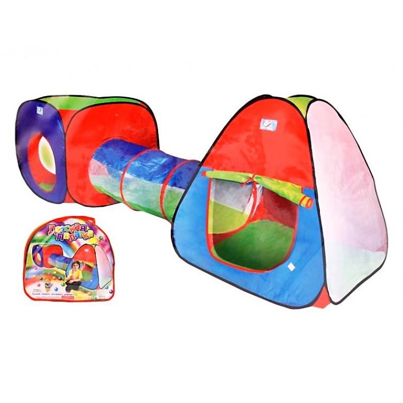 Детская двойная палатка с туннелем (арт. A999-148)