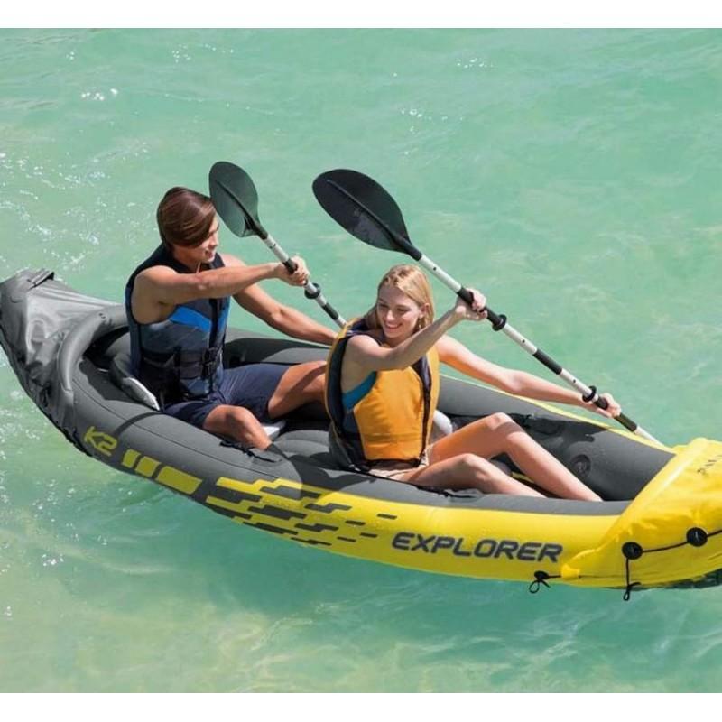Двухместная надувная лодка/каяк - Explorer-K2 (Intex 68307)