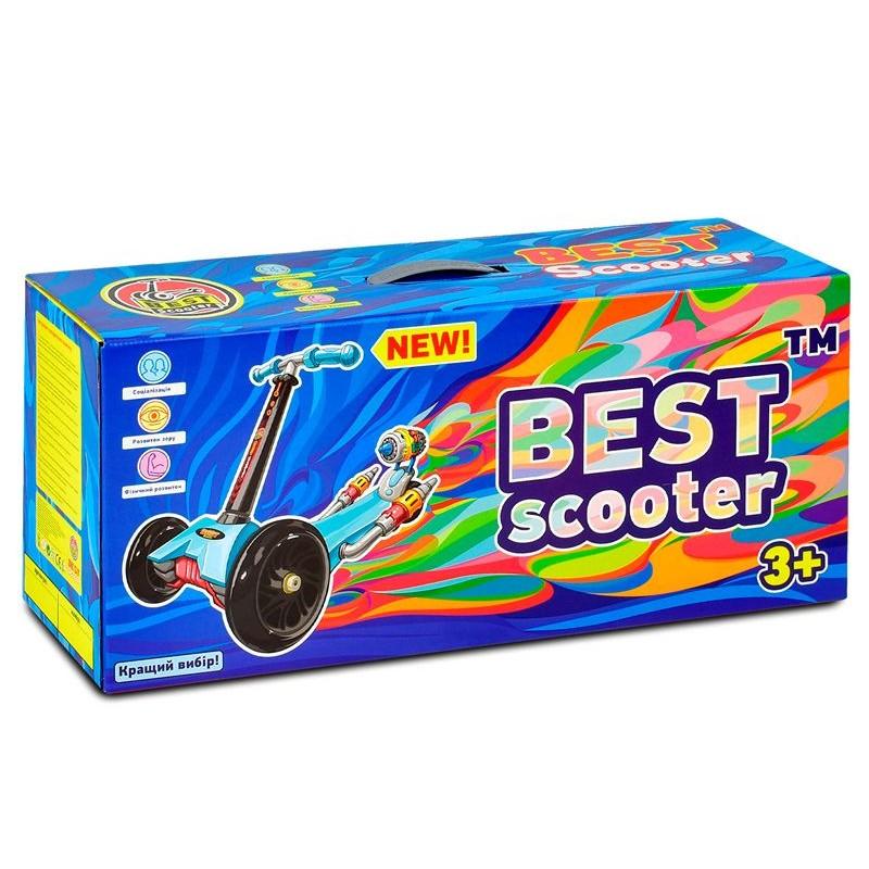Cамокат 3-х колёсный 5 в 1, Синий (Best Scooter А24676-3030)