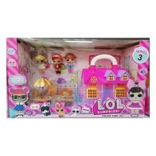 Игровой набор - Дачный домик LOL с мебелью и куклами (арт. TM736B)