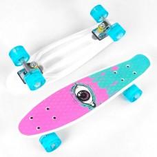 Скейт Пенни Борд с принтом, PU светящиеся колеса (Best Board S29707)