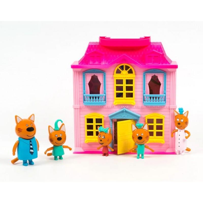 Игровой набор с фигурками - Три кота - Домик + 5 персонажей (арт. M-8806)