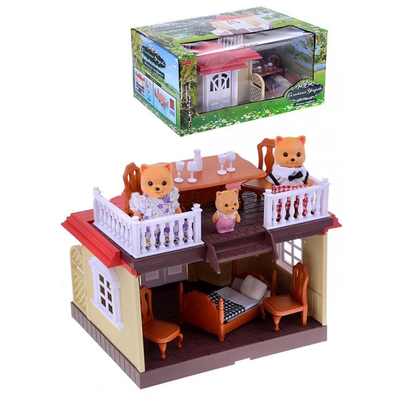 """Игровой набор Happy Family """"Беседка с семейкой котиков"""" (BK Toys Ltd 012-04)"""