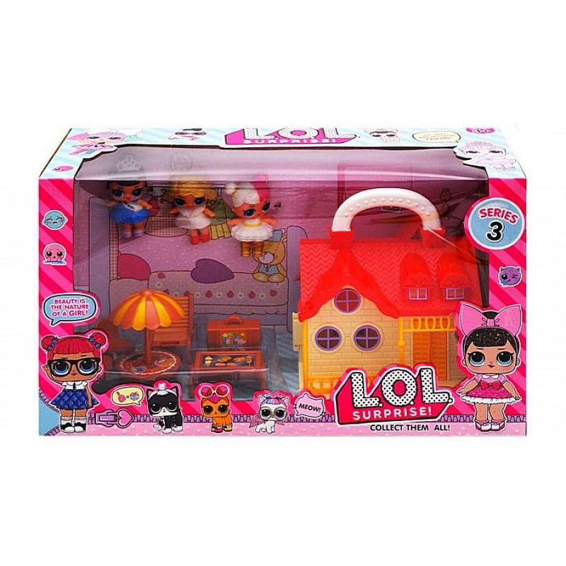 Набор с куклами LOL - Дачный домик и мебель (арт. TM738B)