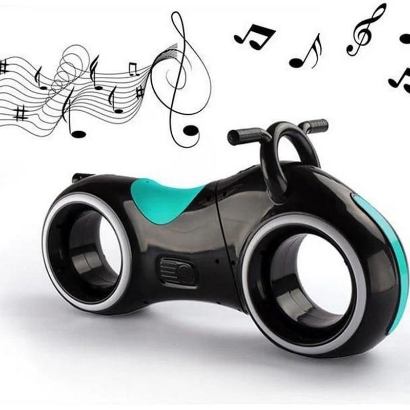 Беговел - Космо-Байк с динамиками, Bluetooth и LED-подсветкой, Black/Green (Tilly GS-0020)
