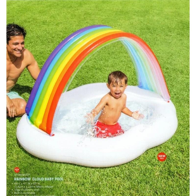 """Детский надувной бассейн с навесом - """"Радуга-Облако"""" (Intex 57141)"""