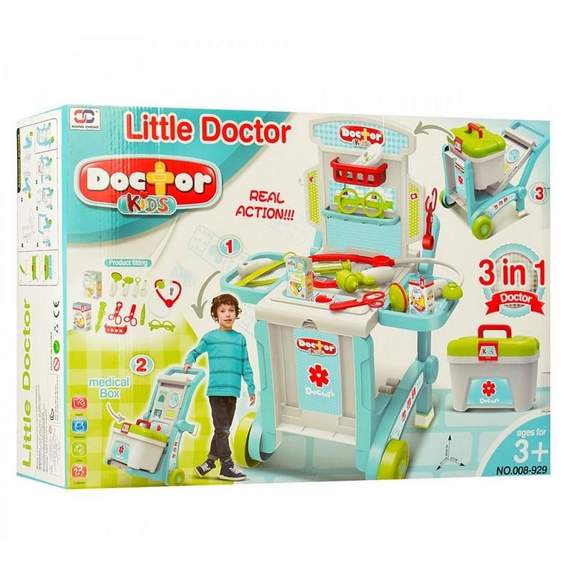 Игровой набор Доктора в чемодане-трансформере 3в1 (арт. 008-929)