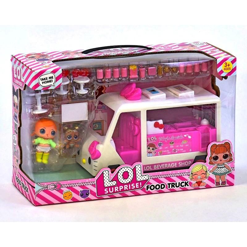 Игровой набор LOL - Закусочная на колесах - Автобус, 2 куклы, аксессуары (арт. K5622)