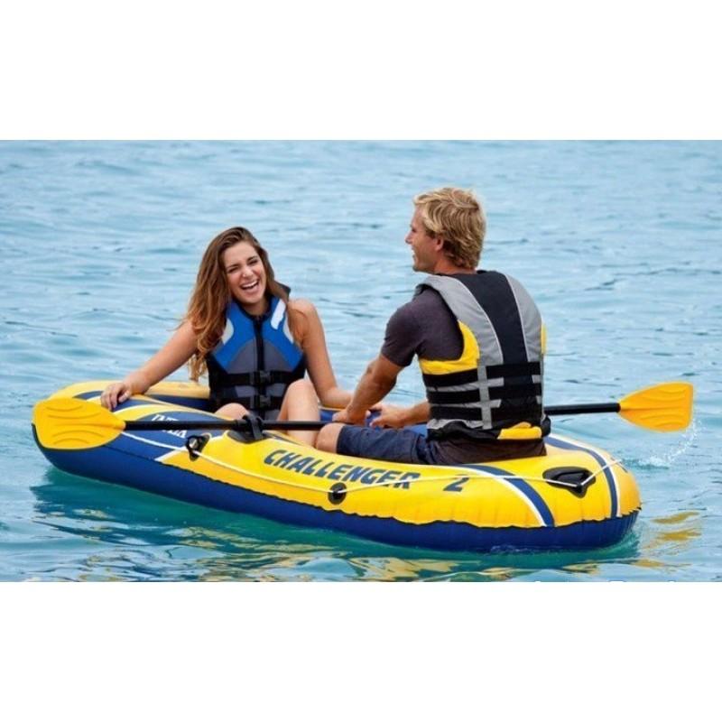 Двухместная надувная лодка Challenger2 Set (Intex 68367)