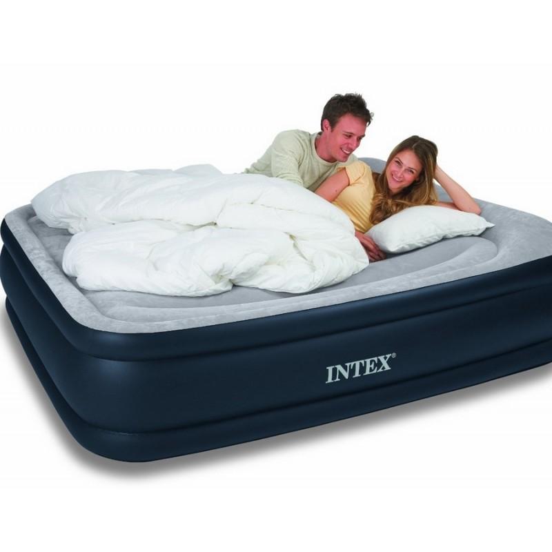 Двуспальная надувная кровать со встроенным электронасосом (Intex 64136)