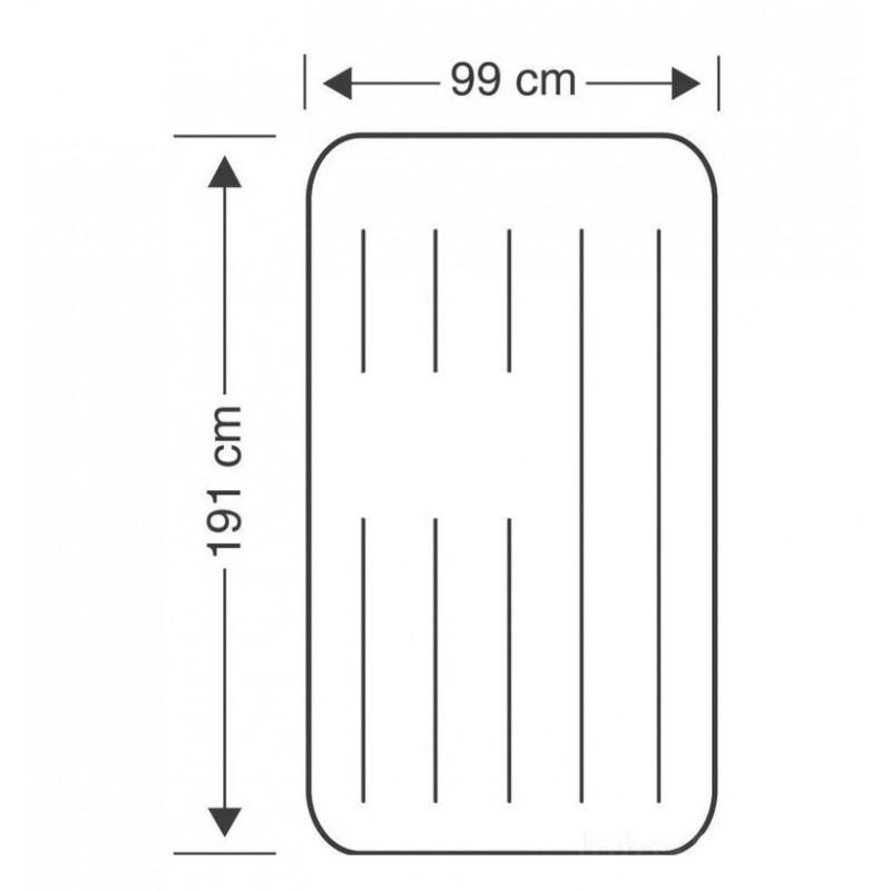 Надувной матрас с подголовником и встроенным электронасосом (Intex 64146)