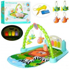 Развивающий коврик для малышей с ножным пианино (арт. 9913B)