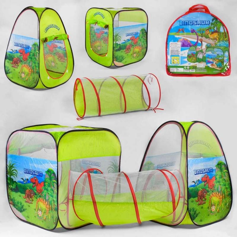 Детская двойная палатка с туннелем, Дино (арт. 8015KL)