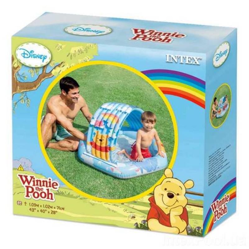Надувной детский бассейн с навесом (Intex 58415)