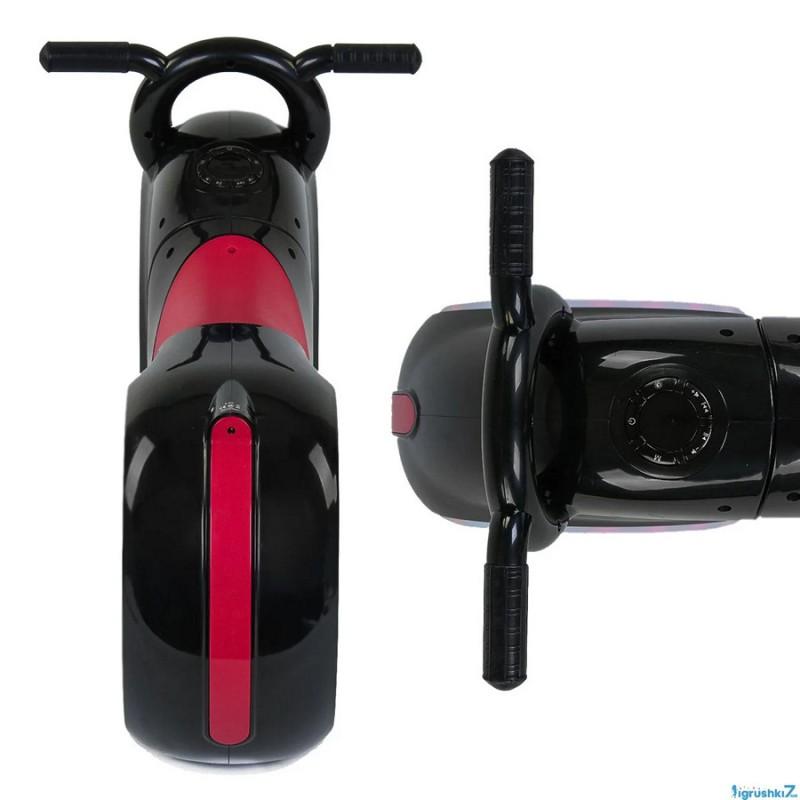 Беговел - Космо-Байк с динамиками, Bluetooth и LED-подсветкой, Black/Red (Tilly GS-0020)