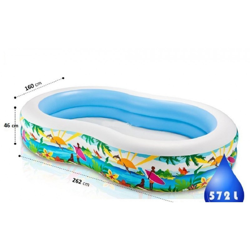 """Надувной бассейн """"Райская лагуна"""" (Intex 56490)"""