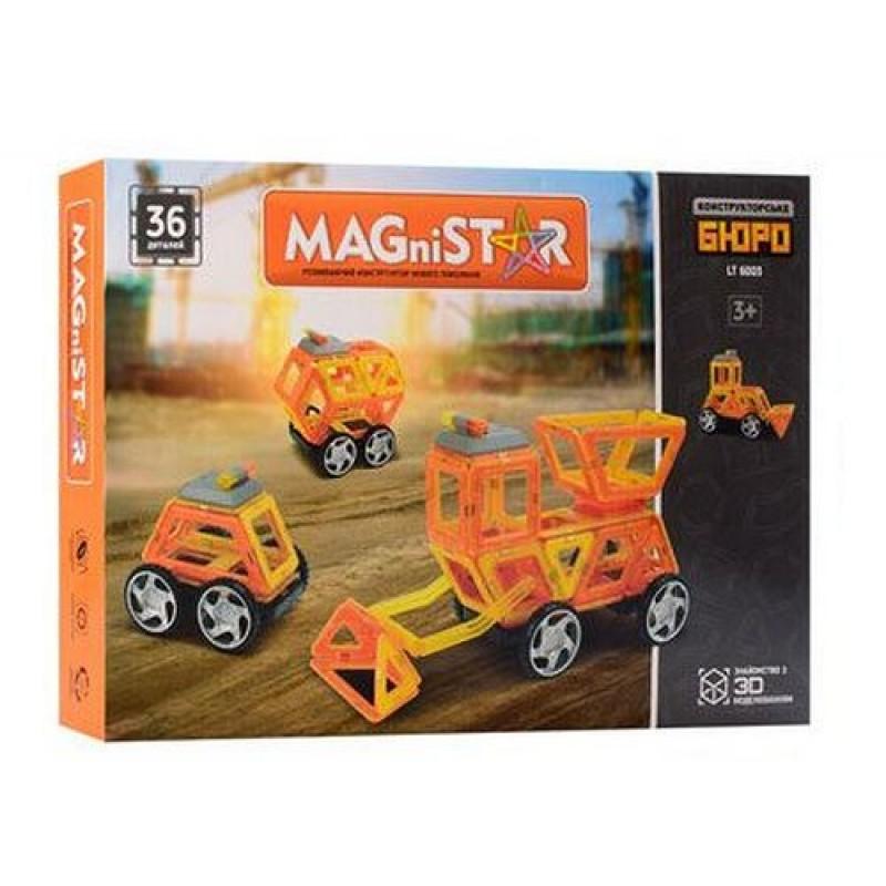 Конструктор магнитный - Спецтехника, 34 детали (LImo Toy LT6003)