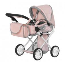 Коляска для кукол, Pink Carrello Unico с сумкой (Melobo M9346P)