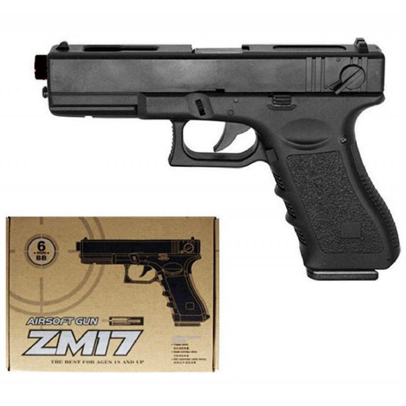 Игрушечный пистолет «Glock 17», металл/пластик (CYMA ZM17)