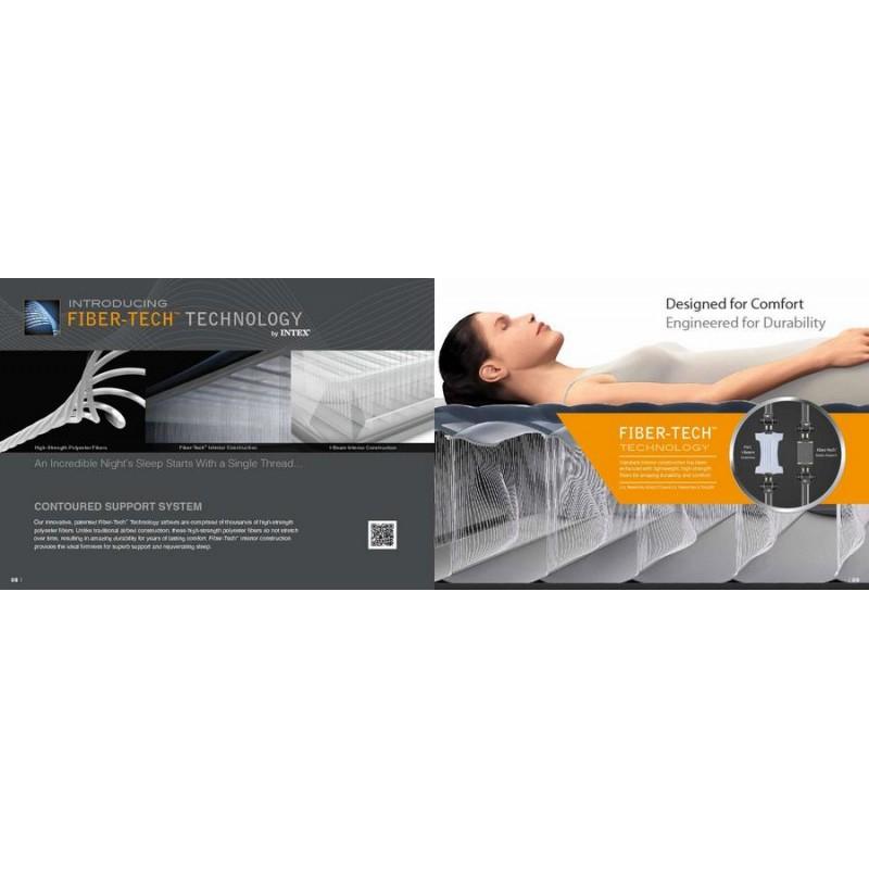 Надувная кровать Mid-Rice Airbed со встроенным насосом (Intex 64118) NEW 2018