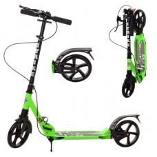 Самокат RiderZ Urban Scooter, ручной тормоз, Зеленый (iTrike SR2-018-1-GR)