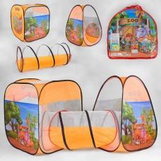 Детская двойная палатка с туннелем, Джунгли (арт. 8015Zoo)
