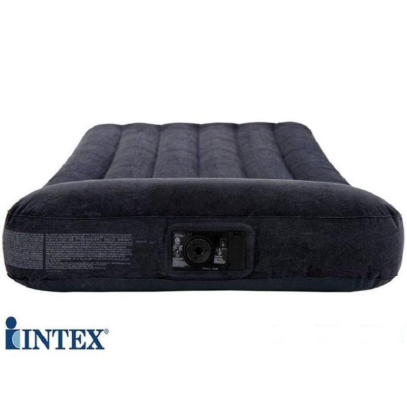 Надувной матрас с подголовником, со встроенным насосом (Intex 66780)