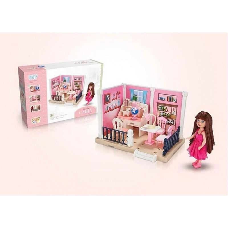 Набор мебели - Детская комната с куклой и питомцем (арт. 686-001)