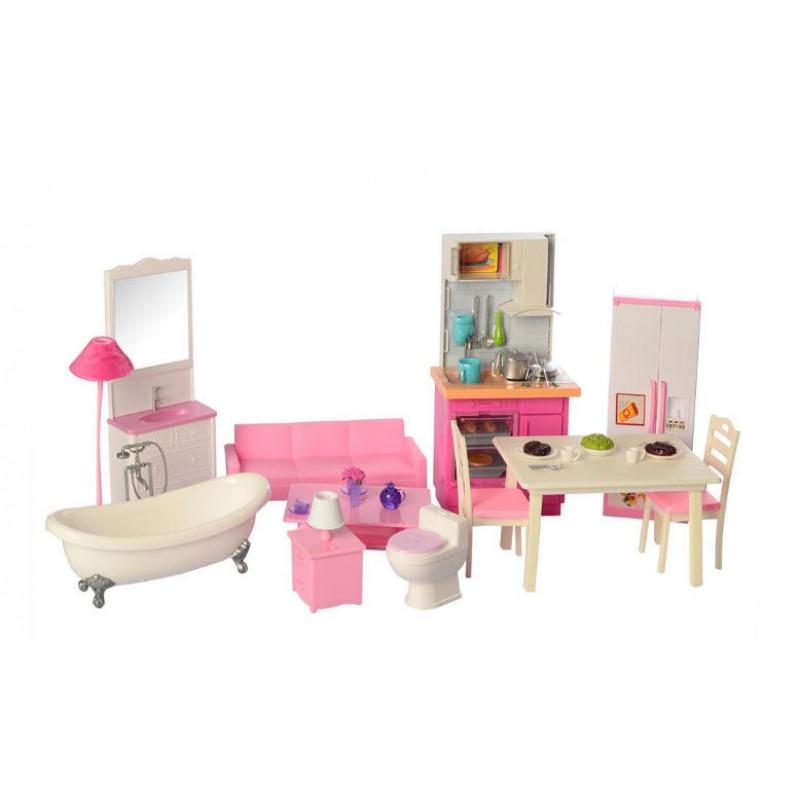 Двухэтажный Домик для кукол с мебелью (Defa 8440BF)