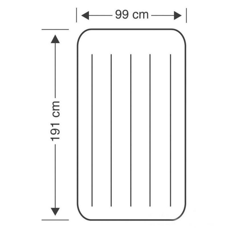 Матрас надувной одноместный с подголовником (Intex 64141)