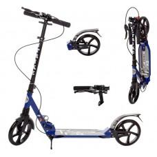 Самокат RiderZ Urban Scooter, ручной тормоз, Синий (iTrike SR2-018-1-BL)