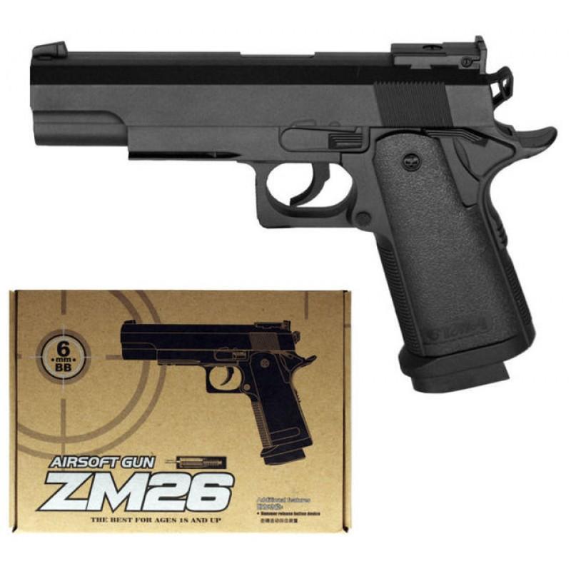 Игрушечный пистолет «Colt Gold Cup», металл/пластик (CYMA ZM26)