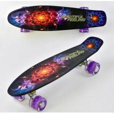 Скейт, PU светящиеся колеса (Best Board F8740)